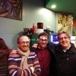 I veterani della meteo in liguria, da sinistra: Achille Pennellatore, Daniele Laiosa e Paolo Bonino.