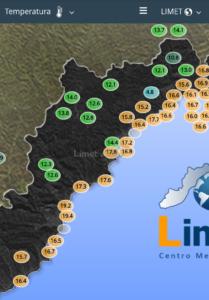 Le temperature registrate dalla nostra rete di monitoraggio