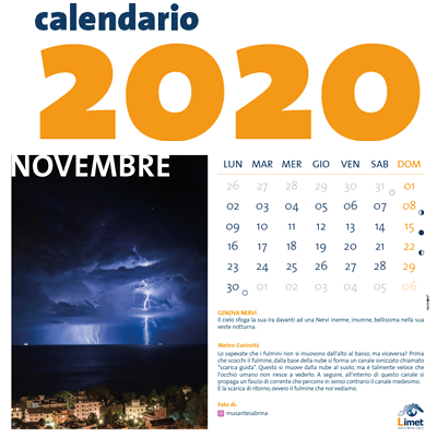 Calendario Limet Ed 2020 - Formato da Tavolo